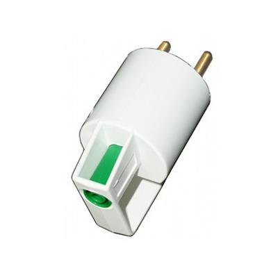Adaptér do zásuvky s PE zdířkou - zelená