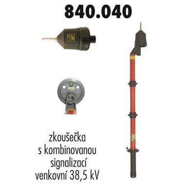 Zkoušečka 38,5 kV venkovní kombinovaná signalizace