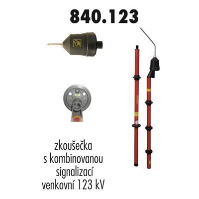 Zkoušečka 123 kV venkovní kombinovaná signalizace