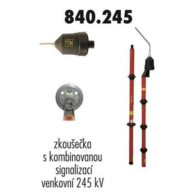 Zkoušečka 245 kV venkovní kombinovaná signalizace