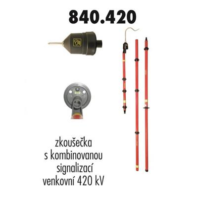 Zkoušečka 420 kV venkovní kombinovaná signalizace