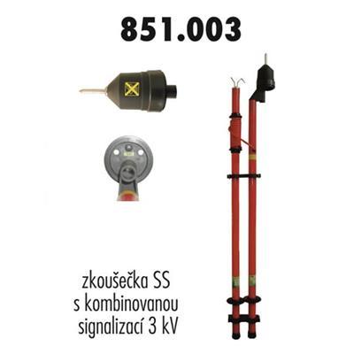 Zkoušečka, kombinovaná signalizace 3 kV
