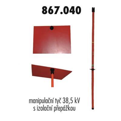 Manipulační tyč s přepážkou