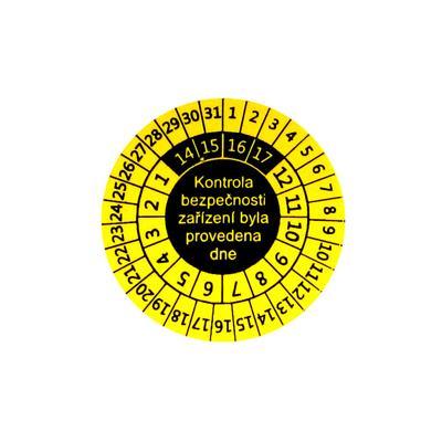 P 9081 - Samolepící kontrolní štítek