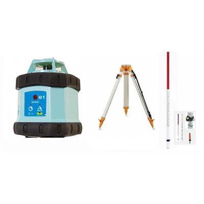 Rotační laser Hedü Q1 + stavební stativ a lať